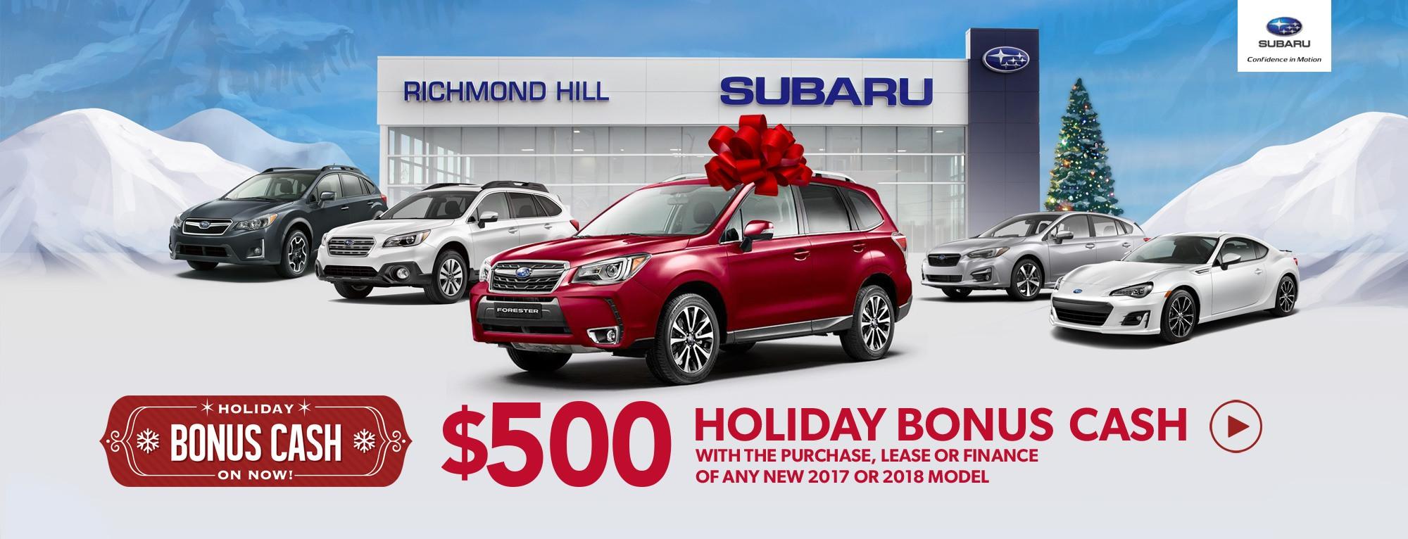 Subaru Holiday Bonus Cash