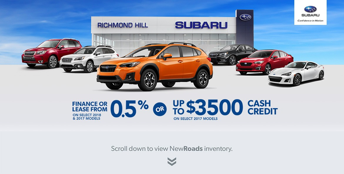 Richmond Hill Subaru and Maple dealer rate special
